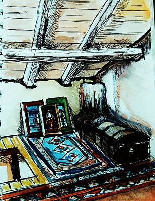 In The Attic Art Print by Anne Parker