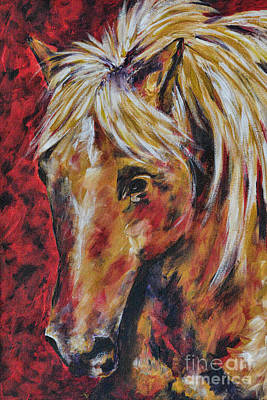 Palomino Horse Painting - In The August Wind by Jai Johnson
