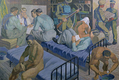 Negro Painting - In The Barracks, 1989 by Osmund Caine