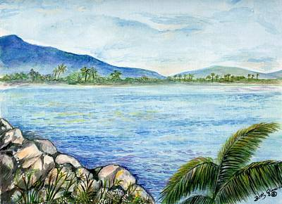 Jamaican Painting - In The Bay by Betty Glanville