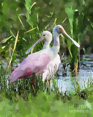 Spoonbill Digital Art - In The Bayou #2 by Betty LaRue