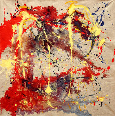 Mixed Media - In The Beginning 1 by Giorgio Tuscani
