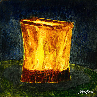 Luminaria Painting - In The Beginning by Miko Zen