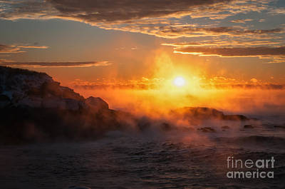 Nubble Light Photograph - In The Beginning by Scott Thorp