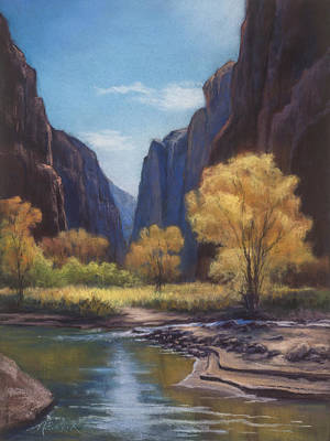In The Bend Zion Canyon Art Print
