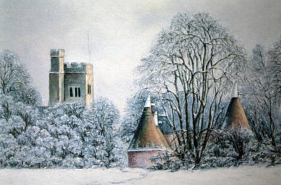 Painting - In The Bleak Midwinter by Rosemary Colyer