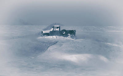 Old Truck Wall Art - Photograph - In The Blizzard by Christian Duguay