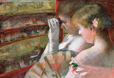 Opera Gloves Painting - In The Box by Mary Stevenson Cassatt