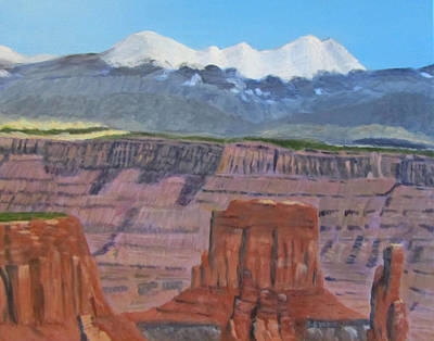 Painting - In The Canyonlands Utah by Linda Feinberg