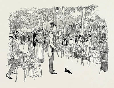 In The Champs Elysees, The Return From The Races Art Print by Litz Collection