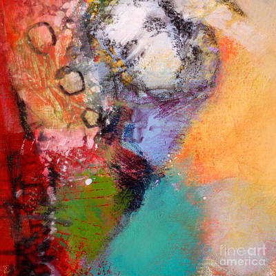 Streetlight Mixed Media - In The City by Lisa Schafer