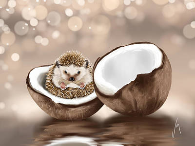 Digital Painting - In The Coconut by Veronica Minozzi