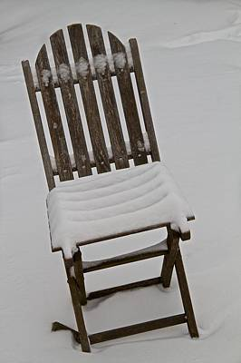 Folding Chair Photograph - In The Cold by Odd Jeppesen