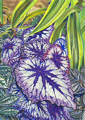 Painting - In The Conservatory-7th Center-violet by Nick Payne