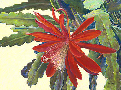 Painting - In The Conservatory - 1st Center - Red by Nick Payne