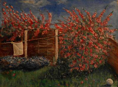 Painting - In The Corner Of An English Garden by Maria  Disley