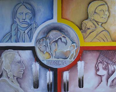 Quanah Parker Painting - In The Creator We Trust by Sean Begaye