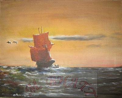 In The Deep Ocean Art Print by M Bhatt