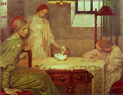 In The Depth Of Winter Art Print by Frederick Cayley Robinson