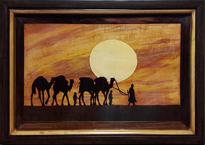 Painting - In The Desert by Art Tantra