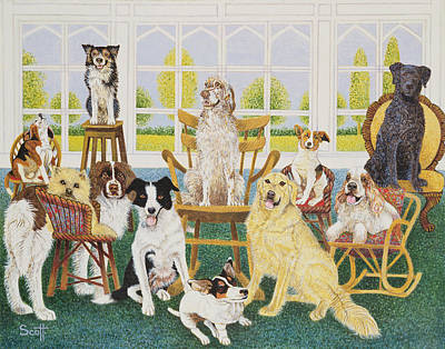 Corgis Photograph - In The Dog House by Pat Scott