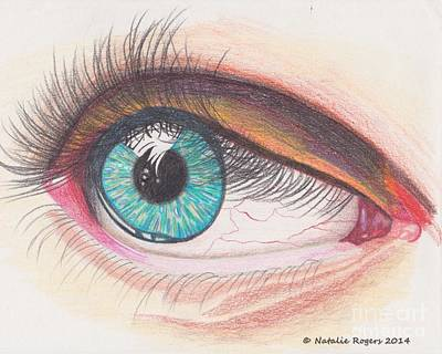 Eyelash Drawing - In The Eye by Natalie Rogers