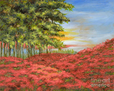 Mo Artist Painting - In The Field Of Poppies by Vic  Mastis