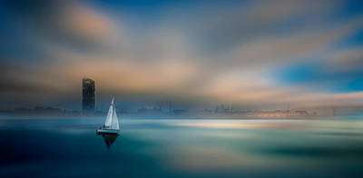 Photograph - ...in The Fog Of The Bay by Marek Czaja