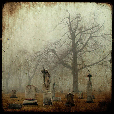 Yo Can See Her In The Foggy Graveyard Art Print