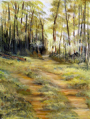Art Print featuring the painting In The Forest by Dorothy Maier