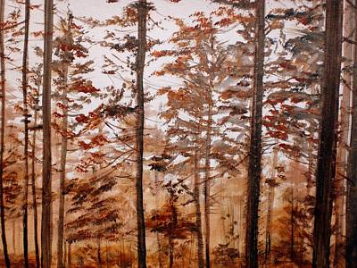 Painting - In The Forest by Hazel Millington