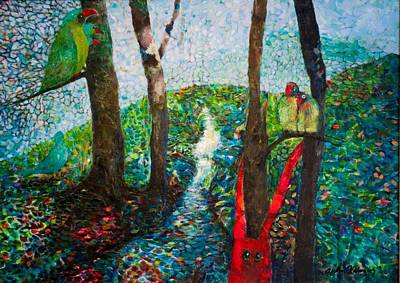 Colourfull Painting - In The Forest by Riitta Kalenius