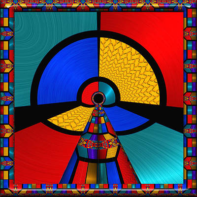 Color Block Digital Art - In The Frame - For Metallic Paper by Wendy J St Christopher