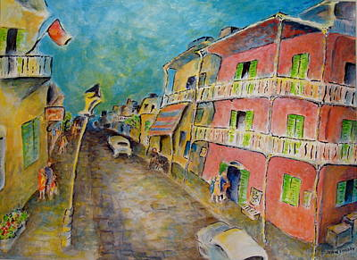 Acadian Painting - In The French Quarter by Joan Landry
