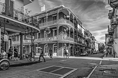 In The French Quarter Monochrome Art Print by Steve Harrington