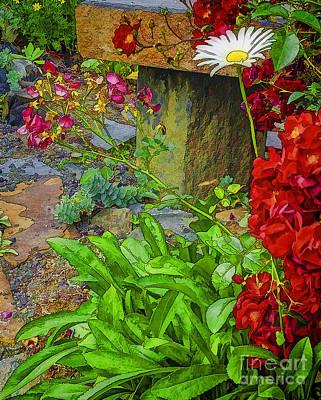 In The Garden-2 Art Print