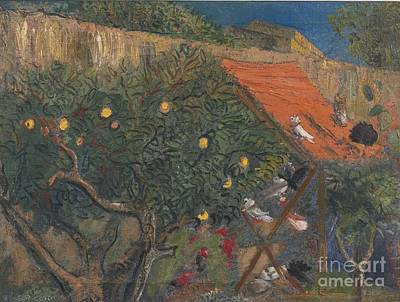 Fruit Tree Art Painting - In The Garden by Celestial Images