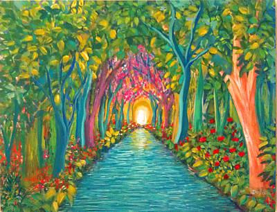 In The Garden Art Print by Deyanira Harris