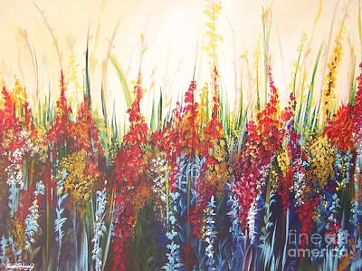 Painting - In The Garden by Nereida Rodriguez
