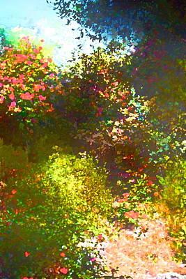 In The Garden Print by Pamela Cooper