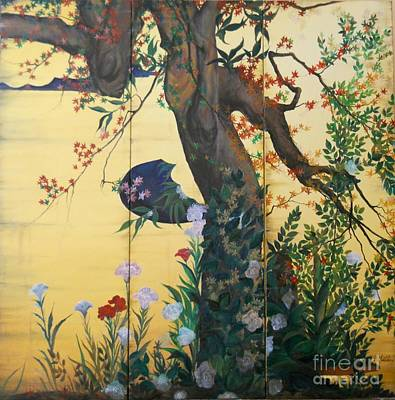 Painting - In The Garden by Sorin Apostolescu