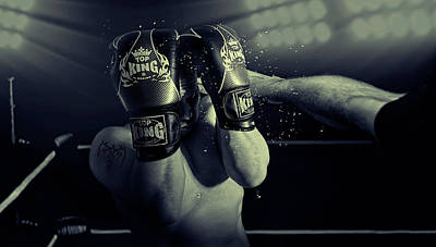 Boxing Photograph - In The Glare Of The Lights by Adrian Vrican