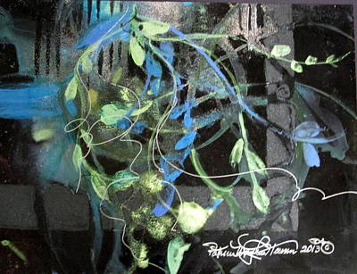 Curvilinear Mixed Media - In The Gloaming by Patricia Mayhew Hamm