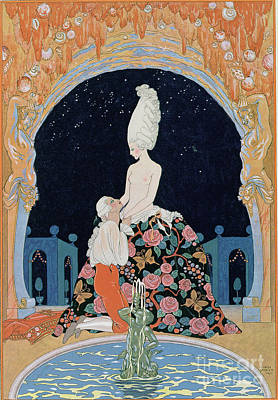 Confession Painting - In The Grotto by Georges Barbier