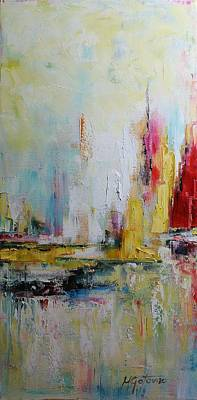 Painting - In The Harbour by Mirjana Gotovac