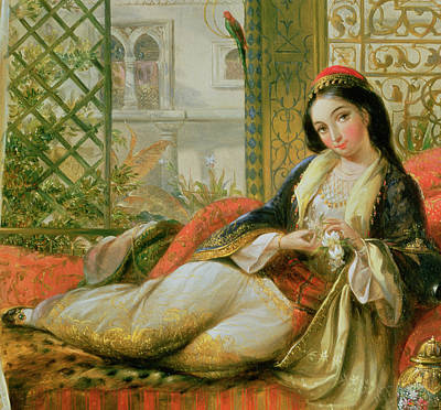 Concubine. Harem Girl Painting - In The Harem by Anonymous