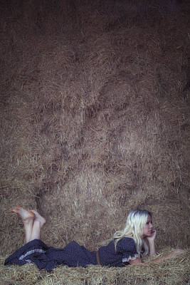 Thoughtful Photograph - In The Hay by Joana Kruse