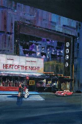 Scooter Painting - In The Heat Of The Night by Andrew Roy Thackeray