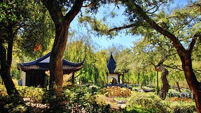 Photograph - In The Chinese Garden by Peggy Hughes