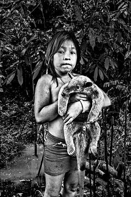 Photograph - Girl With Oso Dormilon by Maria Coulson